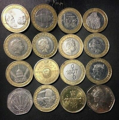 Vintage Great Britain Coin Lot - 29 POUNDS - GREAT COINS - LOT #M13