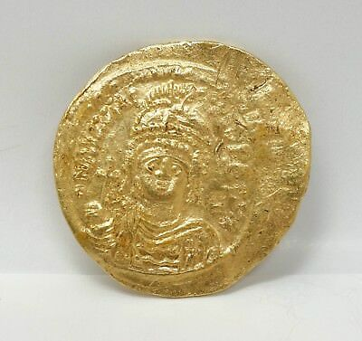Estate Found Maurice Tiberius Byzantine Emperor 582-602 AD Gold Coin Solidus