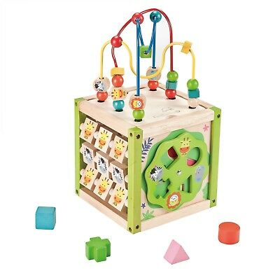 NEW EverEarth My First 5 in 1 Activity Cube Educational Toy