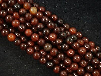 Gemstone Beads Natural Agate 8mm Round Beads 35cm Strand Jewelry FREE POSTAGE