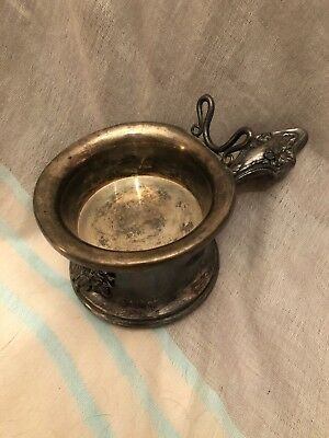 Victorian Derby Silver Co Silverplate Shaving Mug with Original Silver Insert