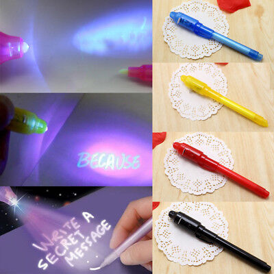 Light Pen Invisible Ink Secret Marker Pen With Ultra Violet LED Blacklight