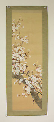 "JAPANESE MAKURI,HONSHI ""Cherry Tree and Sparrow""  @s282"