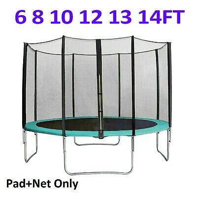 6 8 10 12 13 14 FT Trampoline Spring Cover Pad & Safety Net Replacement Green