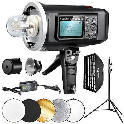 Neewer 600W HSS Outdoor Strobe Flash Lighting Kit with Softbox and Light Stand