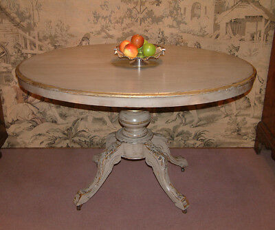 Painted Victorian tilt top ( shabby chic) breakfast table c 1880