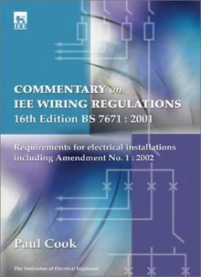 Commentary on IEE Wiring Regulations (BS 7671: 2001): Amendment No.1, 2002 to ,