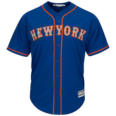 MLB Baseball Trikot New York NY Mets blau Road Cool base Majestic Jersey