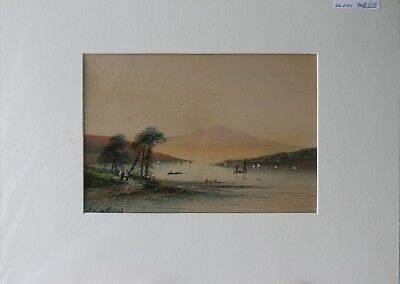 A pair of  j van Koper Late 19th/early 20th century mounted Watercolours