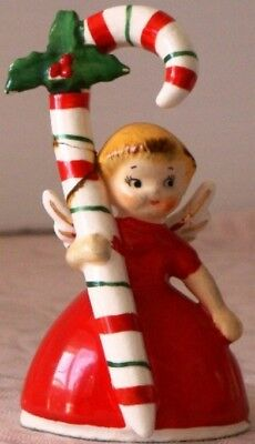NAPCO 1956 Japan VINTAGE Christmas ANGEL BELL w.Lg CANDY CANE NAPCOWARE 3BX 2239