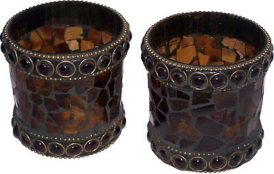 Pair of Candle Vase - Ancient beauty Glass Vase. Each is unique. Top quality