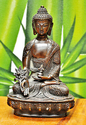 Ancient Old Style Bronze Buddhism Buddha Bronze Statue Quan Yin