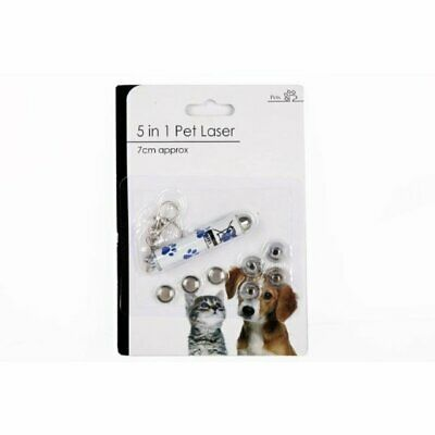 5 in 1 Pet Laser Pointer Pen Toy & Key Ring (Batteries Included) cat dog lazer