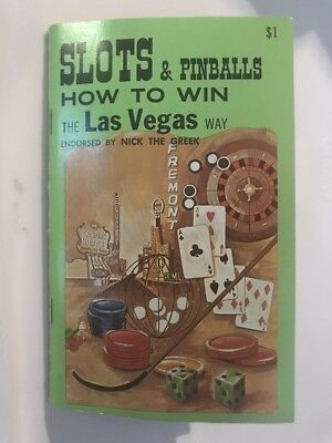 Slots & Pinballs How To Win The Las Vegas Way Old Slot Machine Picture Book 1965