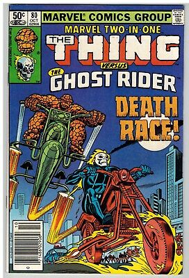 Marvel Two-In-One #80 1981 Thing Ghost Rider Bronze Age Nice!