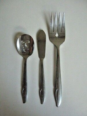Oneida Deluxe PROFILE stainless steel 3 pc mixed lot flatware