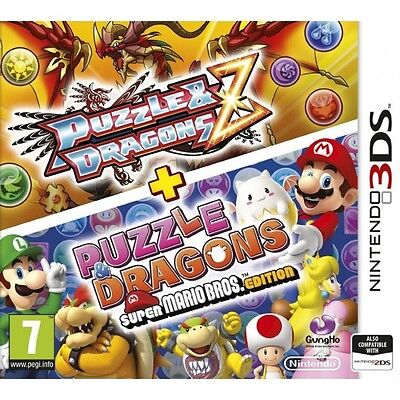 Puzzle & Dragons Z + Puzzle & Dragons Super Mario Bros Edition (3DS) BRAND NEW