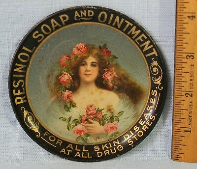 Early Resinol Soap And Ointment Advertising Tip Tray