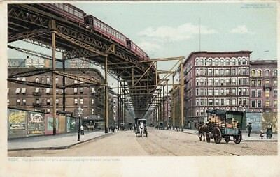 New York, The Elevated at 8th Avenue and 110th Street gl1908 E7036