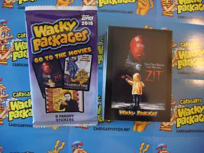 2018 Wacky Packages Go To The Movies Complete Set 90 Sticker Cards + Wrapper Box