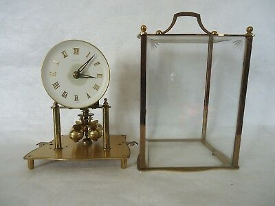 Vintage Kundo Brass 4 Glass 400 Day Anniversary Clock. Spares Or Repair.