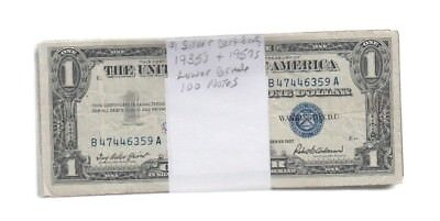 Silver Certificate $1 1935's and 1957's (most are 57's) 100 notes lower grade
