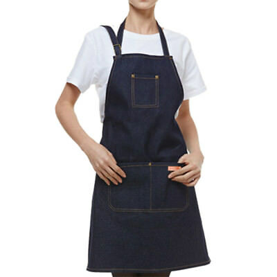 1PC Men's Working Apron Denim Apron Cafe Barista Restaurant Chef Workwear