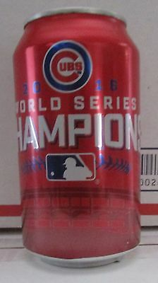 Collectible Chicago Cubs Baseball 2016 Champions Budweiser empty 12oz beer can