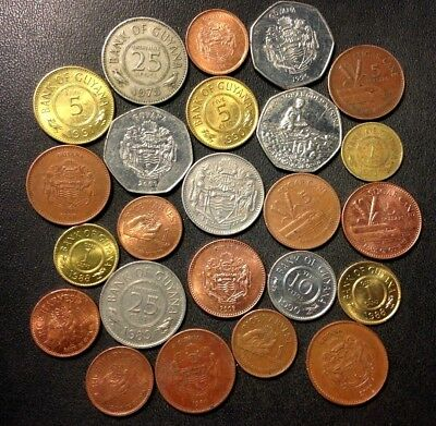 Old Guyana Coin Lot - 24 VERY Uncommon Coins - Lot #M14
