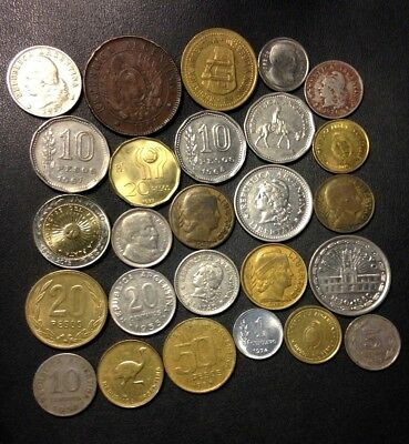 Old Argentina Coin Lot - 1891-Present - 26 Great Coins - Lot #M14