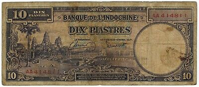 French Indo-China ND (1947) 10 Piastres P80