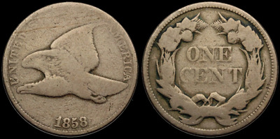 Flying Eagle Small Cent, 1858, Large Letters LL