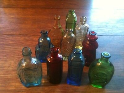 WHEATON N.J.Lot of 10 Miniature Reproduction Antique Bitters Bottles