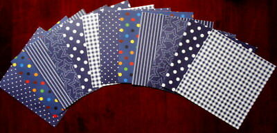 """Shades of BLUE  Scrapbooking/Cardmaking Papers x 12 ~ 15cm x 15cm ~  (6"""" X 6"""")"""
