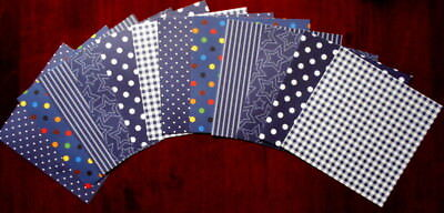 """Shades of BLUE  Scrapbooking Papers x 12 ~ 15cm x 15cm ~  (6"""" X 6"""")"""