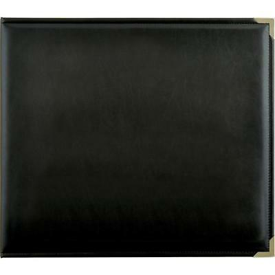 "Kaisercraft - 12x12"" D-Ring PU Leather Album - BLACK"
