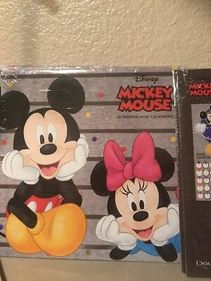 Disney Mickey Mouse Disneyland 2018 Calender 16 Month New Poster