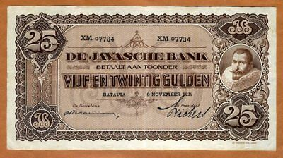 Netherlands Indies, 25 Gulden, 1929, P-71c, Circulated
