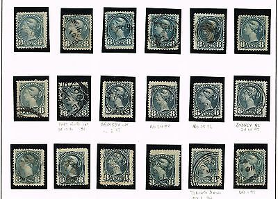 Canada Small Queens #44 F-Vf Shades And Various  Cancel    (Uje30