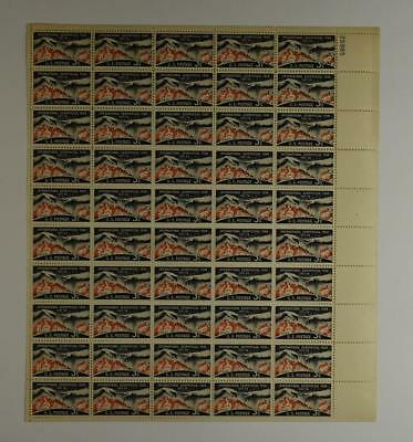 Us Scott 1107 Pane Of 50 Geophysical Year Stamps 3 Cent Face Mnh