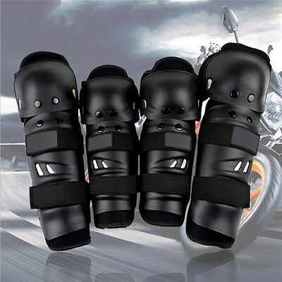 Elbow Knee Shin Armor Protector Guard Pads for Motorcycle Bike Racing 4pcs/set