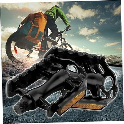 2x Aluminium Alloy Mountain Road Bike Bicycle Cycling 9/16inch Pedals Flat MT