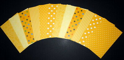 """Shades of YELLOW Scrapbooking/Cardmaking Papers x 12 ~ 15cm x 10cm ~  (6"""" X 4"""")"""