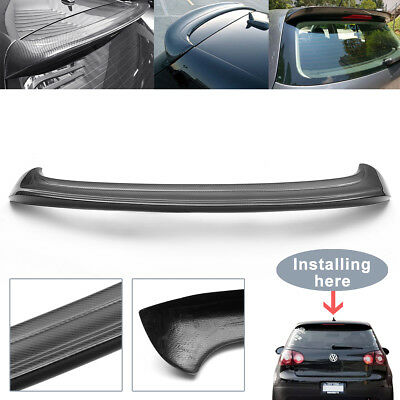 Carbon Fiber Rear Roof Spoiler Wing Trunk Lid For VW Golf 5 MK5 GTI R32 05-07