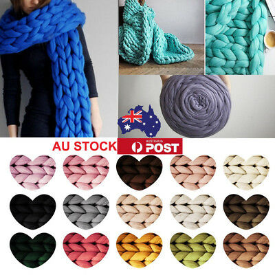 1/2/3/8 Chunky Wool Yarn Super Bulky Knitting Wool Sweater Roving Crocheting AU