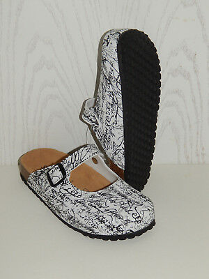 Supersoft Damen Hausschuhe Clogs  36 37 38 39 40 41 42 White  276 073