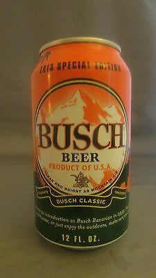 Collectible 2013 Busch empty 12oz beer aluminum can