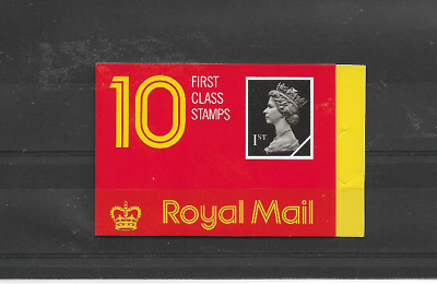 GB 1989 First Class Barcode Booklet - HD 1 - Cyl No