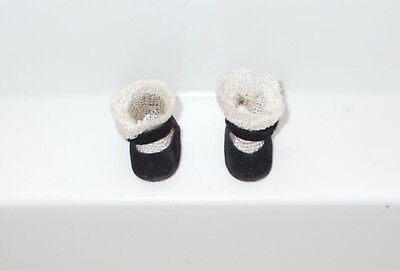 Vtg. Madame Alexander Wendy Kins Doll Side Snap Shoes Fuzzy Bottoms 1950s EXC