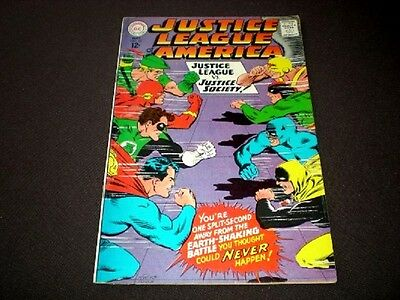 Justice League 56, (1967), JLA vs JSA, 1st app Golden age Wonder Woman, DC B01